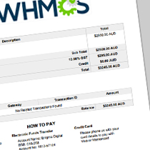 how to add payment details to your whmcs pdf invoices, Invoice templates