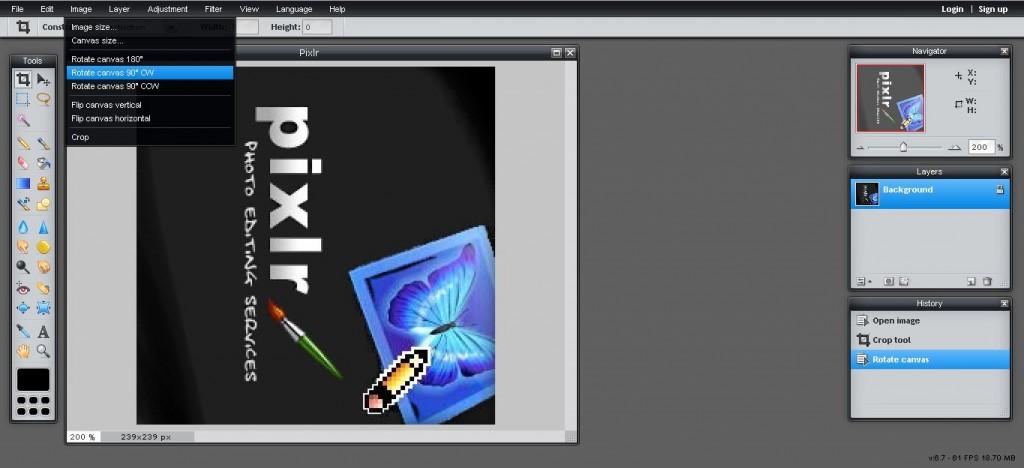 Pixlr Rotated Image