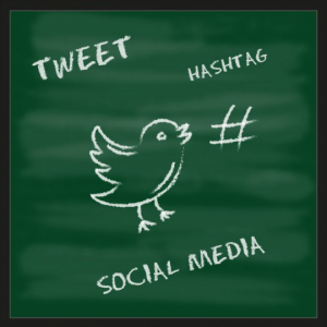 Tweet hashtag social media
