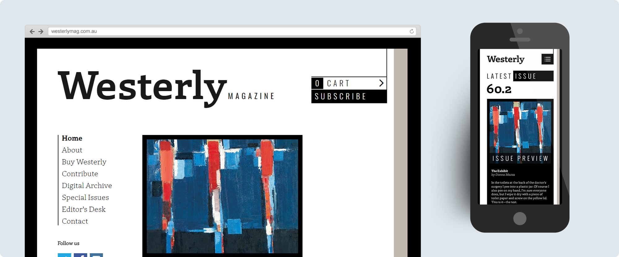 Westerly Magazine Website Design