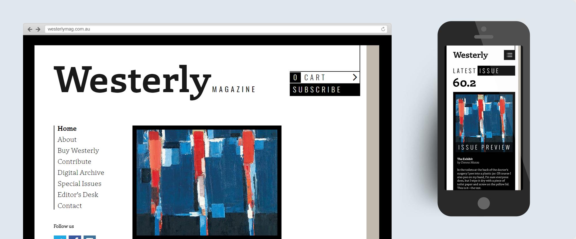 Westerly Magazine Website Design