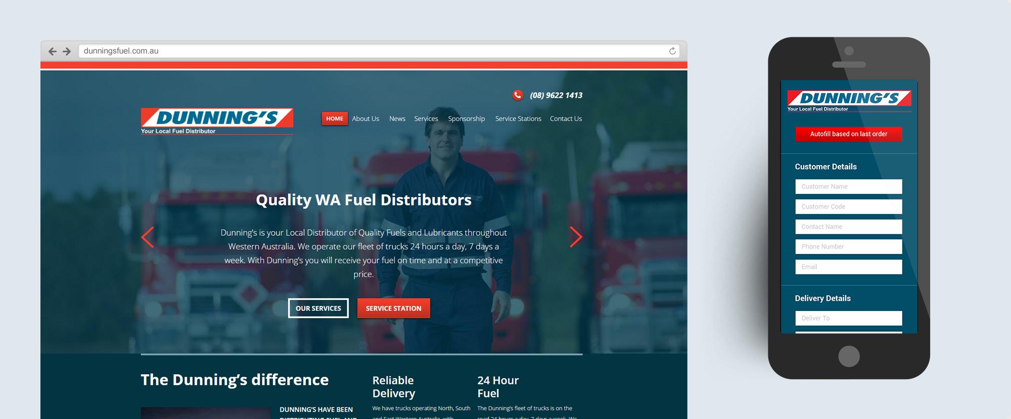 Dunnings Fuel Website